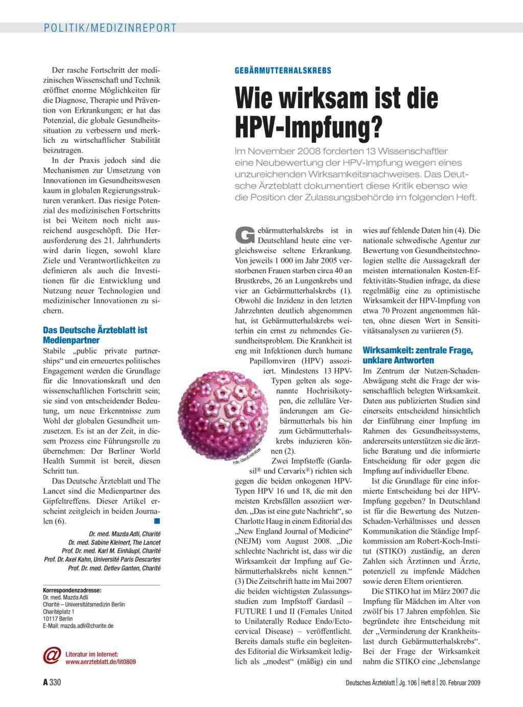 hpv vírus impfung