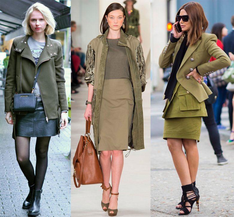 Khaki színű, mit kell kombinálni a ruhákban. A khaki szín és árnyalatok kombinációi a ruhákban