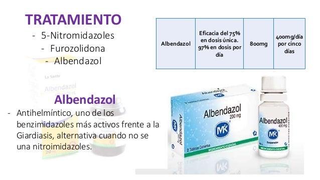 Giardiázis, Giardia albendazol